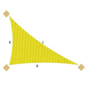 Right Angle Triangle Commercial 95 Shade Sails