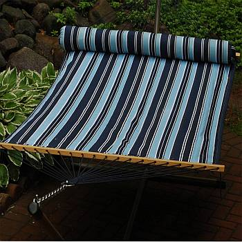 13 Foot Navy Blue Stripe/Navy Reversible Hammock