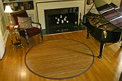 Bamboo Rug -  Contemporary Chocolate 7ft Round