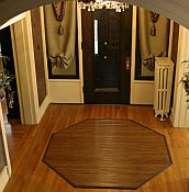 Bamboo Rug -  Contemporary Chocolate 7ft Octagon