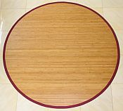 Bamboo Rug -  Contemporary Natural 7ft Round