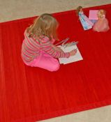 Bamboo Rug -  Contemporary Red 5ft x 8ft