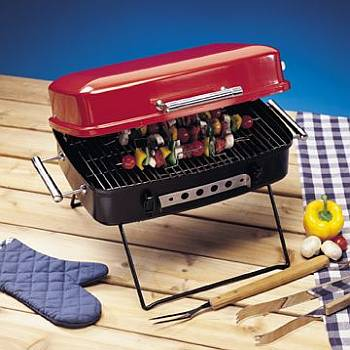 Deluxe Portable Charcoal Grill