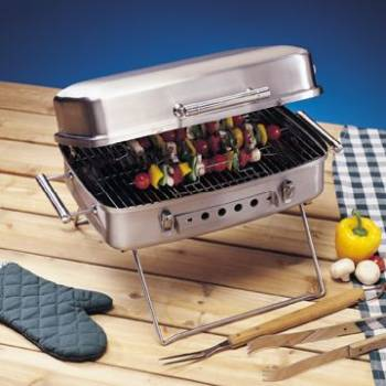 Super Deluxe Portable Charcoal Grill