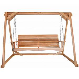 Two Piece Cedar Swing and A-Frame Set