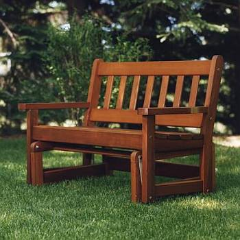 Cedar Glider / Rocker - Partially Assembled