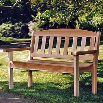 Cedar Garden Bench - Partially Assembled