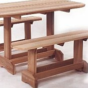 Picnic Table Set - Oval Unassembled