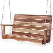 Cedar Porch Swing - Partially Assembled