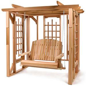 Pergola Cedar Swing Set -  Unassembled