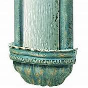 Bellezza Wall Fountain/Silver Mirror/Patina Frame