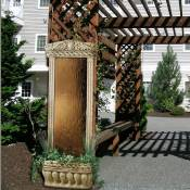 Water Garden Fountain/Bronze / Stone Frame