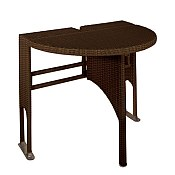 Adena Wicker Folding Patio Table