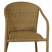 Resin Wicker Arm Chairs (Pair)