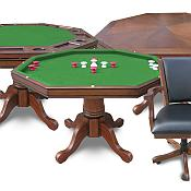 Harvil 3-in-1 Poker Table with 4 Chairs