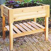 Rectangle Wooden Planter Box 25in - 35 1/2 in Tall