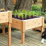 Square Wooden Planter Box - 24 3/4in Tall