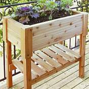 Rectangle Wooden Planter Box - 35 1/2in Tall