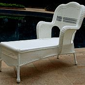Sahara Resin Wicker Chaise Lounge