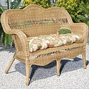 Sahara All Weather Resin Wicker Loveseat
