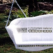 Sahara Resin Wicker Porch Swing