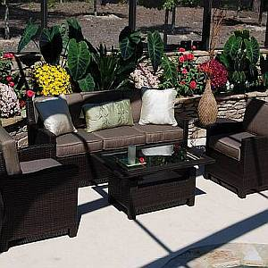 4 Pc St. Jadot Resin Wicker Furniture Set