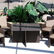 5 Pc Veneta Resin Wicker Dining Set