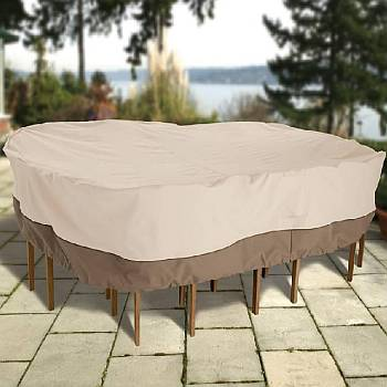 Large Round Table and Chair Protective Cover