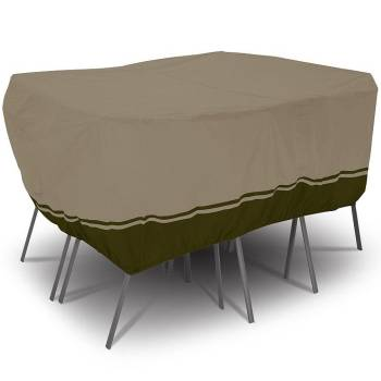 Villa Patio Rectangle/Oval Table and Chair Set Cover - Medium