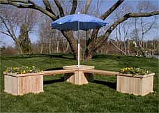 Cedar Planter Bench Systems