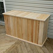 Classic 5ft White Cedar Deck Box - Tall