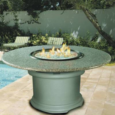 Del Mar Outdoor Chat Height Firepit Table