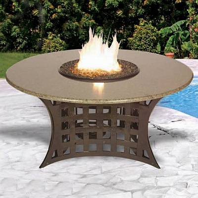 LaCosta Outdoor Chat Height Patio Firepit Table