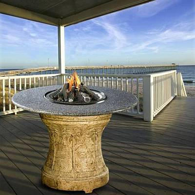 Palm Series Outdoor Bar Height Fire Pit