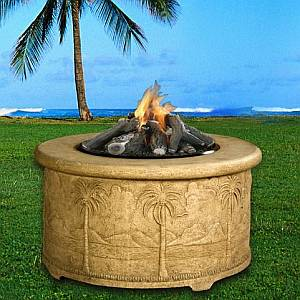 Palm Series Fire Pit - 36in Chat Height