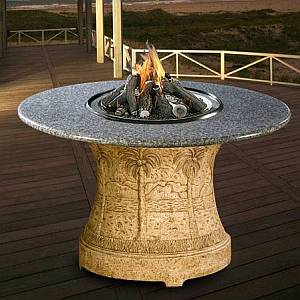 Palm Series Outdoor Dining Height Fire Pit