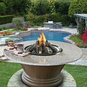 San Simeon Fire Pit/Patio Table