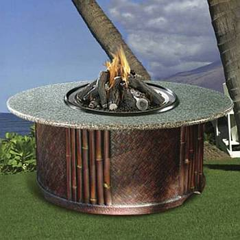 Tradewinds Outdoor Chat Height Gas Firepit