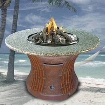Tradewinds Outdoor Dining Height Gas Firepit