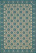 Diamond Turquoise Outdoor Rug - 7ft 10in by 11ft