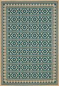 Sedona Turquoise Outdoor Rug - 7ft 10in by 11ft