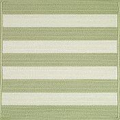 Cabana Stripes Outdoor Rugs<br>Celery