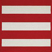 Cabana Stripes Outdoor Rugs<br>Red