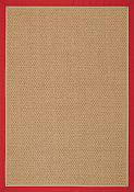 Castaway Red/Camel Outdoor Rug - 5 ft x 7ft