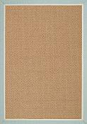 Castaway Spa/Antique Beige Outdoor Rug - 8 ft x 11 ft