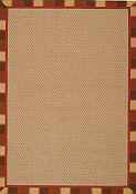 Castaway Striped Spice Outdoor Rug - 7 ft x 9 ft