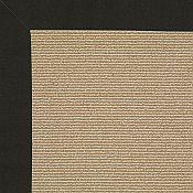Creative Concepts Black Canvas Rug - 4ft x 6ft