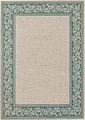 Finesse Outdoor Rug - Scroll - Loden Green