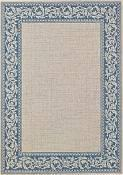 Scroll Blue Outdoor Rug - 1ft 11in by 2ft 10in
