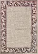 Scroll Cranberry Outdoor Rug - 3ft 11in by 5ft 6in